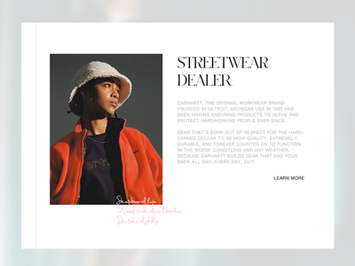 Carhartt carhartt ui ux website branding webpage web landing valentin semes minimal design