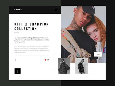 Swing design valentin semes white black web design minimal website webpage web ui simple landing