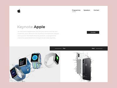 Apple Keynote website webpage web valentin semes landing webdesign minimal white apple design