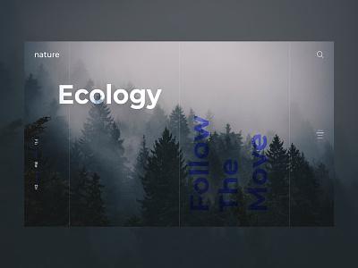 Nature ecology webpage webdesign web valentin semes minimal landing design nature