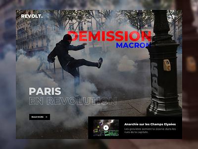Revolt revolution webpage webdesign web urban style valentin semes minimal magazine landing design