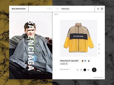 Balenciaga webpage webdesign web valentin semes style mode balenciaga minimal landing design
