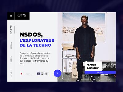 Vice website ux ui webpage webdesign valentin semes techno music urban style simple landing design minimal