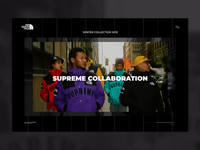 The North Face X Supreme brand magazine collaboration the north face supreme web design black ux urban style simple ui website webdesign webpage web landing valentin semes minimal design