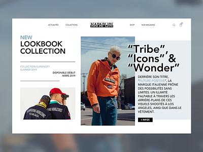 Napapijri urban style magazine napapijri web design ux simple website ui webpage web landing valentin semes minimal design