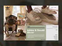 Adidas & Donald Glover adidas magazine ux urban style simple website ui webdesign webpage web landing valentin semes minimal design