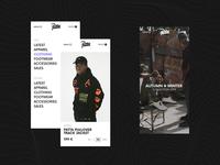 Patta mobile style website webpage webdesign web ux urban ui simple minimal landing design valentin semes patta