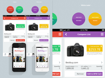 comPare Case Study (2013 May) app case study flat ui portfolio simple clean ios mock-up e-commerc ux web design