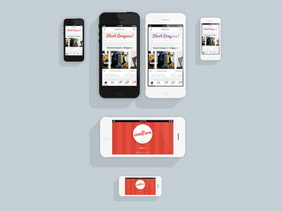 iPhone5 Flat Presentation app mockup iphone5 case study layout ios white clean illustration