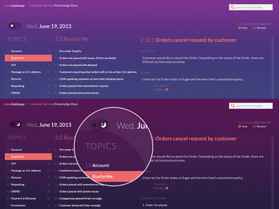CS Knowledge Base (Night+Day Vision) dashboard web color