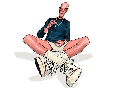 Day Thirty. Final. Hunter Thompson design portrait digital writer novelember illustration draw character art