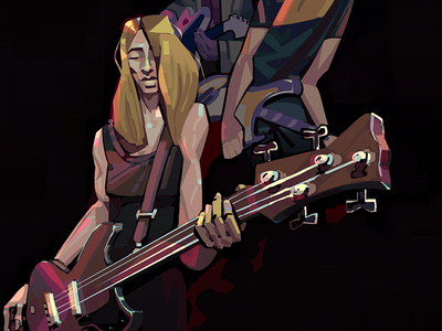 Sonic Youth poster scene drums bass guitar 2d band music photoshop art illustration digital poster