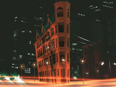 toronto downtown background motion layout 2d speedpaint art illustration