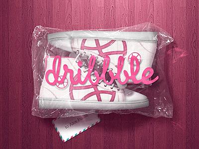 Dribbbler illustration blackmilk sneakers dribbble invite