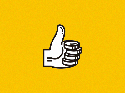 GoodMoney logotype goodmoney good money thumbs up coins blackmilk