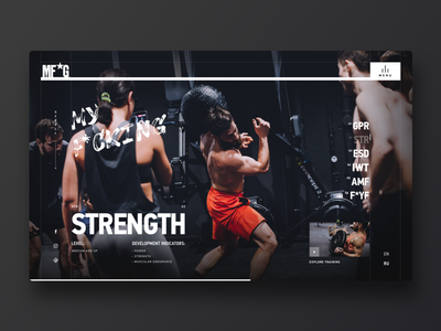 MF*G – Kyiv Gym workout fitness sport gym digital uiux grid ui design