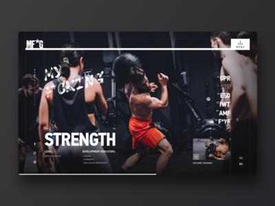MF*G – Kyiv Gym workout fitness sport gym digital uiux grid ui design