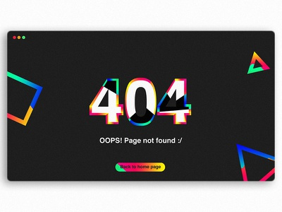 Daily UI 008: 404 page site web page error 404 challenge 008 ui daily