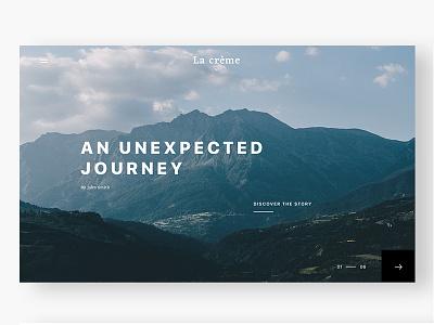 La crème minimalist clean web project website crème la ux ui