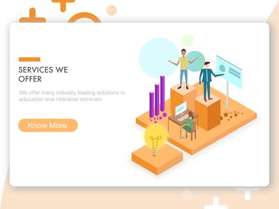 Website Isometric Design | Services