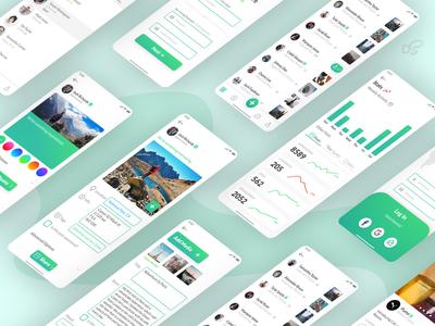 PhotoMag Concept App Screens