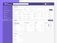 Reports dashboard design concept