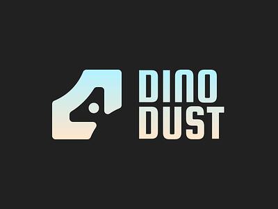 Dinodust logo vector branding affinity designer geometric negative space logomark logo