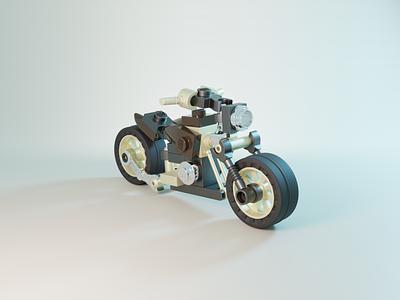 LEGO® Motorcycle blender3d motorbike motorcycle lego illustration blender 3d art 3d