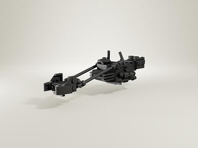 LEGO® Mandalorian Speeder clay render speeder clay render clayrender clay star wars mandalorian lego blender3d illustration blender 3d art 3d