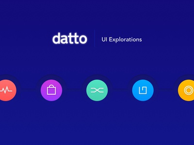 Visual Exploration for Datto design System enterprise design iconography visual design user interface design ui