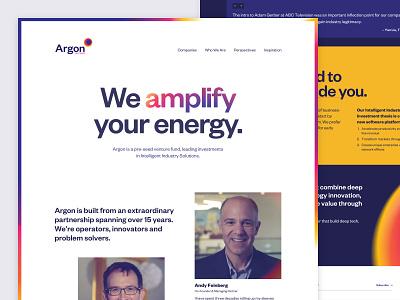Argon Ventures website design logo branding ui mobile animation web design development