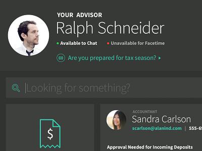 Advice ui interaction app tablet
