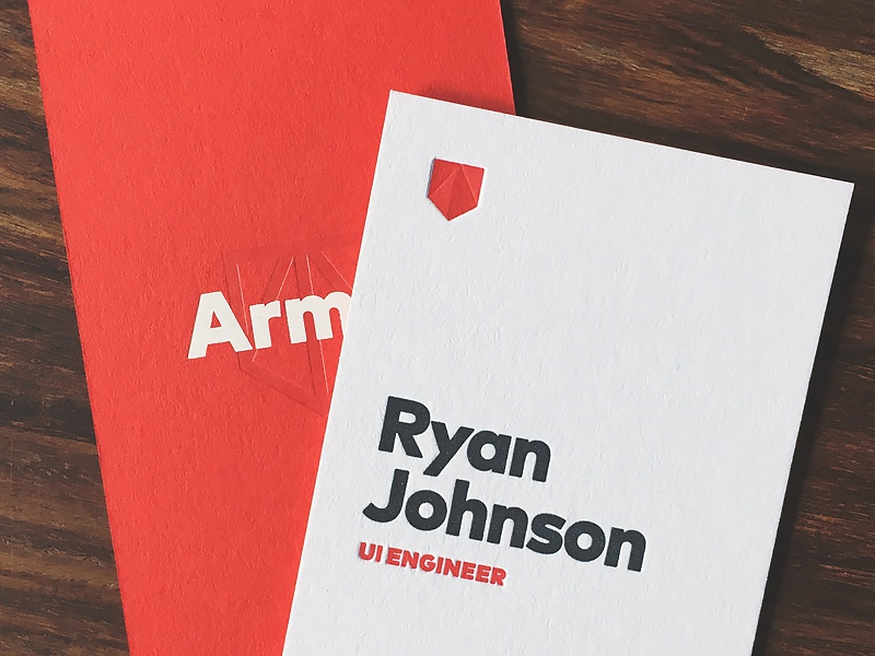 Armor businesscards dribbble