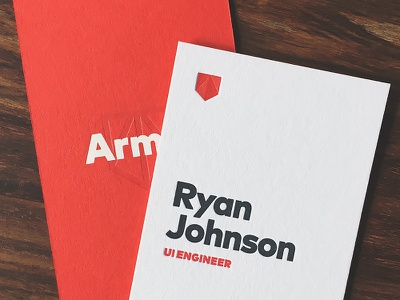 Armor Business Cards typography letterpress