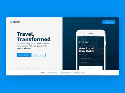 Zeeno product design branding ui interaction