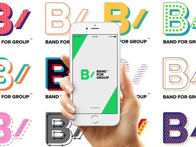 BAND for group appliction - Brand eXperience renewal app icon app logo branding flexible mobile brand identity brand