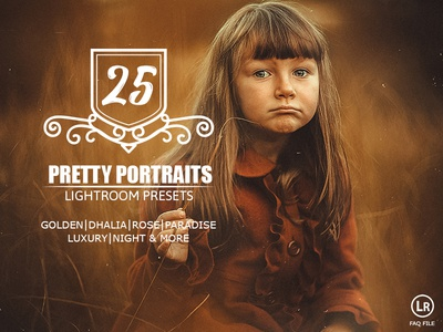 25 Pretty Portraits Lightroom Presets