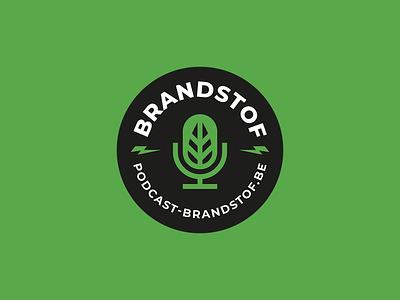 Brandstof Podcast - Logo podcasting environmental logo badge badge design emblem logo climate change climatechange fuel green logo microphone podcast podcast logo badge badge logo vector design branding brand logo design logo
