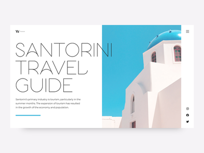 Hero Image • Font Aglaia Hairline ui guide travel greece santorini ui design product page landing page product design cover interface promo typography hero section hero image