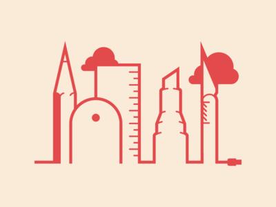 Graphic Tools | Skyline skyline tools design graphic illustration