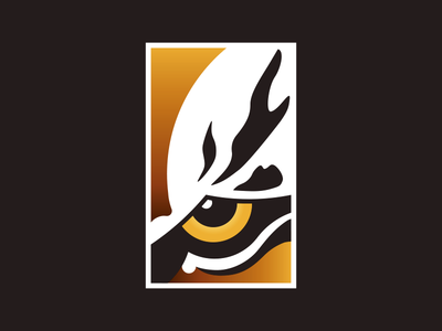 Tiger Eye stripe gradient animal illustration logo eye tiger