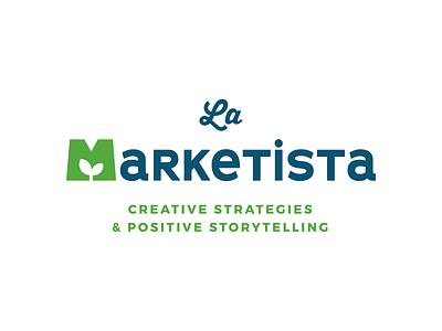 La Marketista - Logo plant green freelance marketing icons logo design branding brand logo