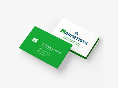 La Marketista - Business Card plant marketing green card design business card design business card logo design branding brand logo