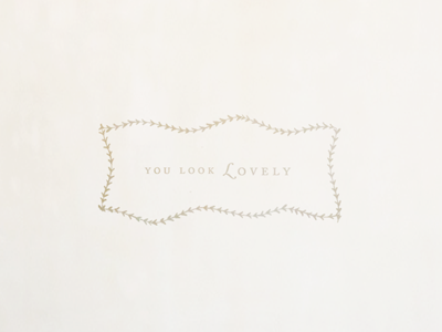 You Look Lovely Photography photography branding logo