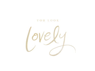 You Look Lovely, version 2033820394 logo branding photography hand lettering