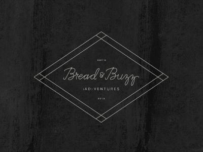 Bread & Buzz marketing advertising branding logo hand lettering
