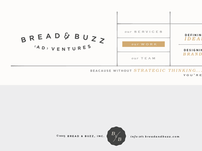 Bread & Buzz  web design marketing advertising branding logo typography