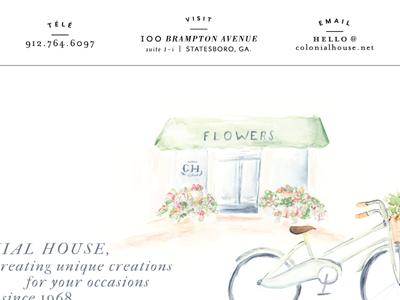 Colonial House Web Design web design watercolor painting