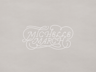 Michelle March handlettering branding identity
