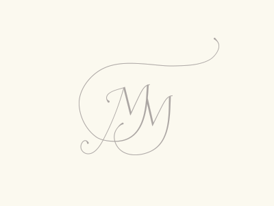 Michelle March icon logo branding handlettering calligraphy